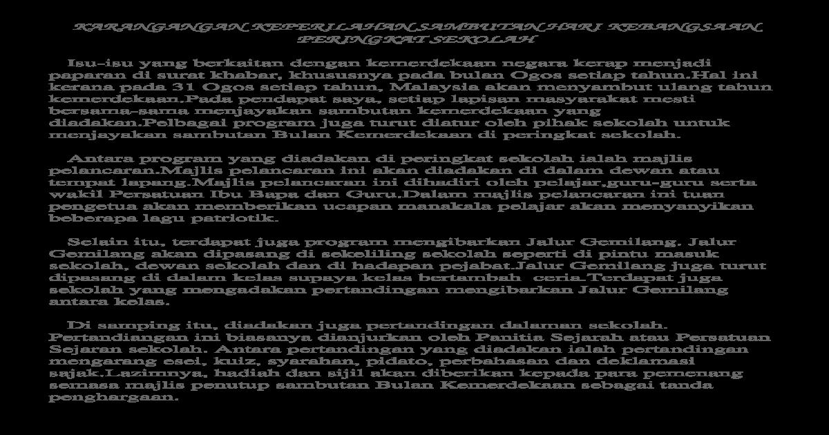 Hari Kebangsaan Karangan Keperihalan Docx Document