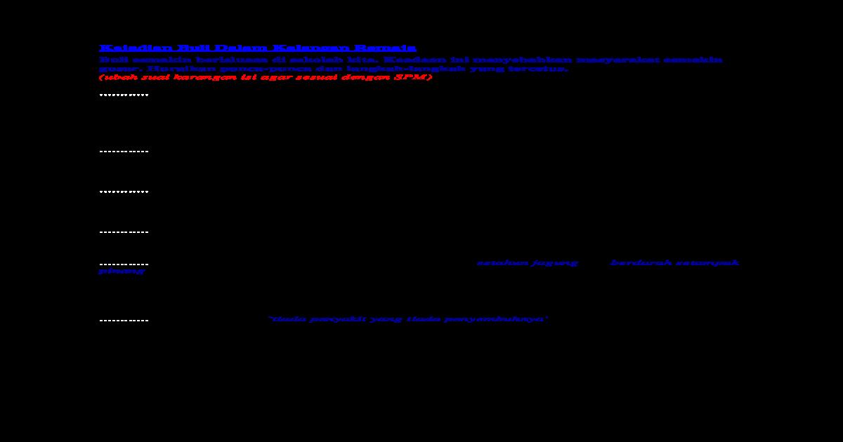Karangan Gejala Buli Docx Document