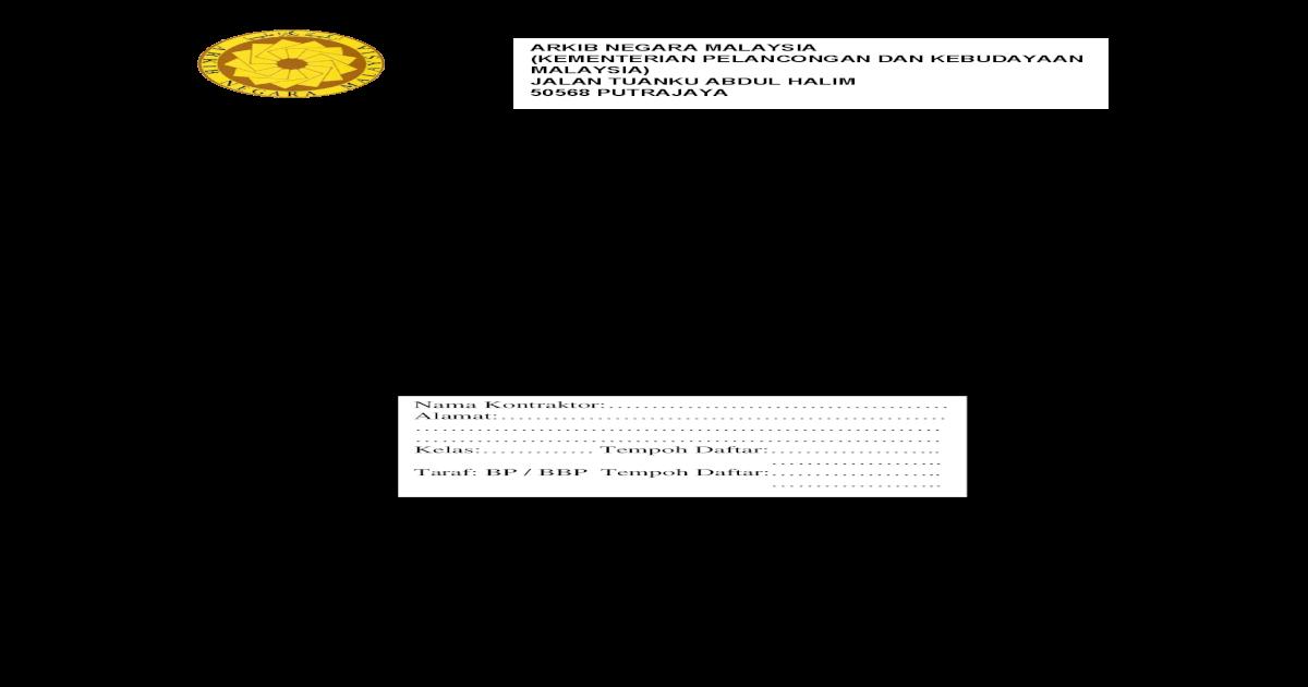 Sebutharga Naiktaraf Pejabat Complete Semua Polisi Insurans Selepas Tempoh Sah Nota Nota Perlindungan Tanpa Sebarang Sebab Yang Munasabah Pegawai Inden Pdf Document