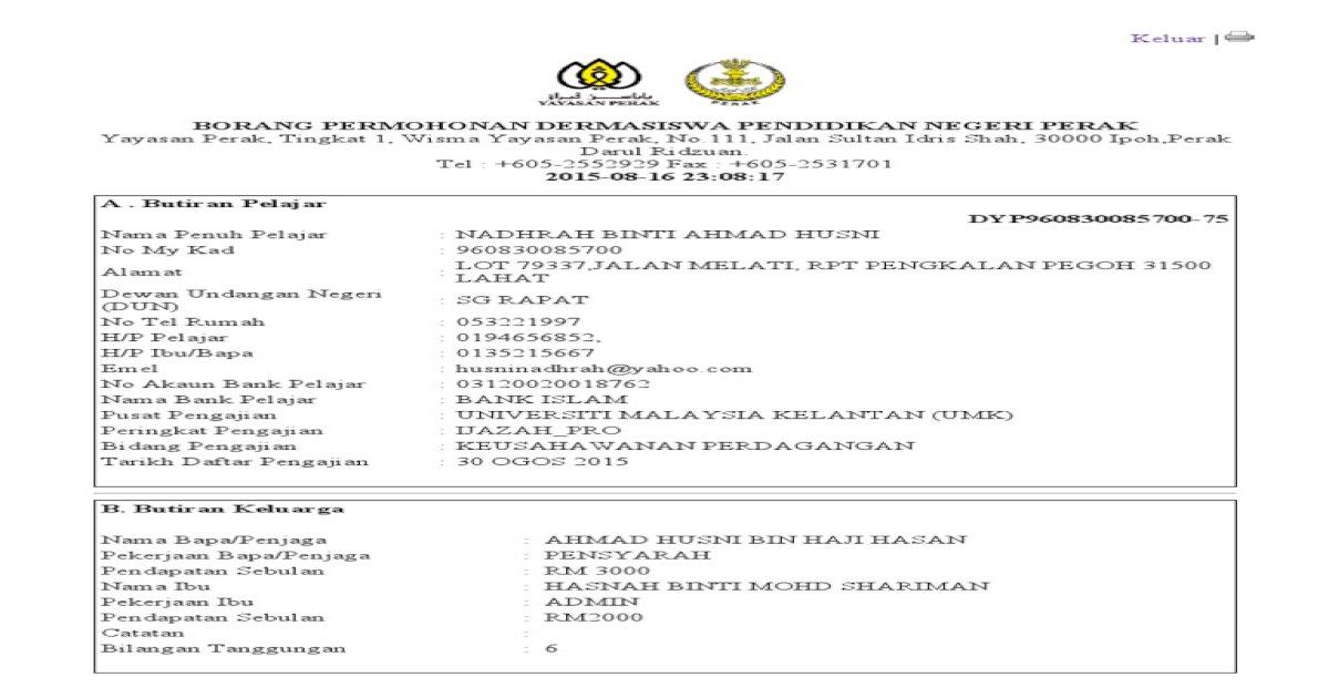 Dermasiswa Pendidikan Negeri Perak Pdf Document