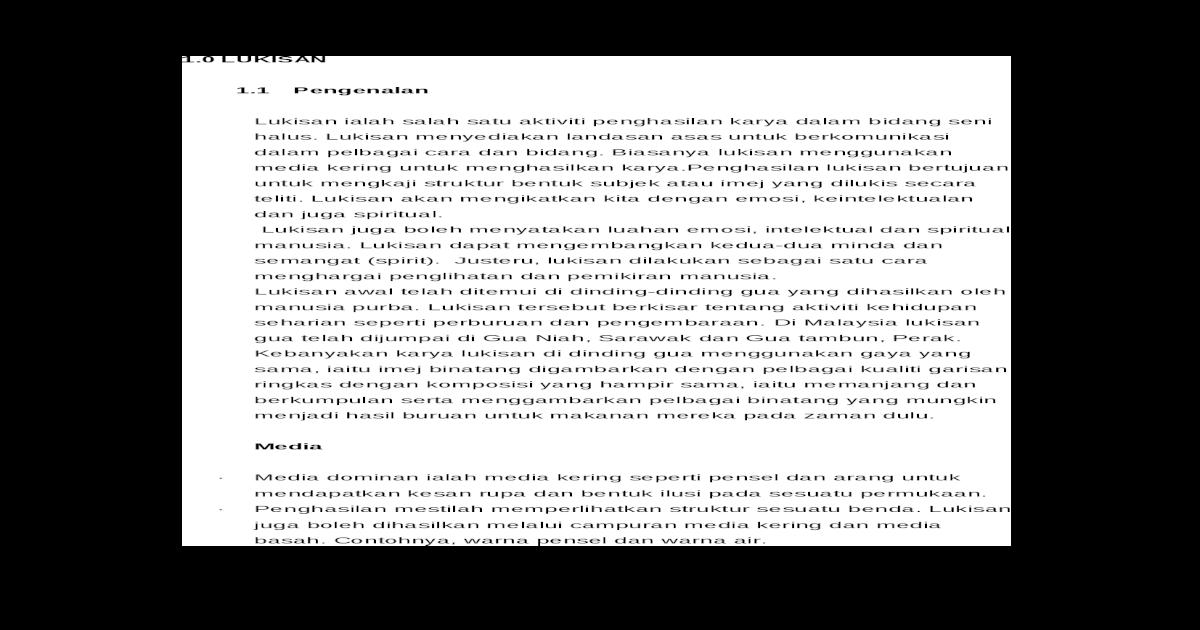Seni Lukis Pelbagai Tamadun Doc Document
