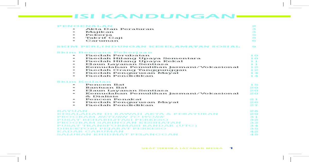Socso Jadual Caruman Bulanan Borang 8a