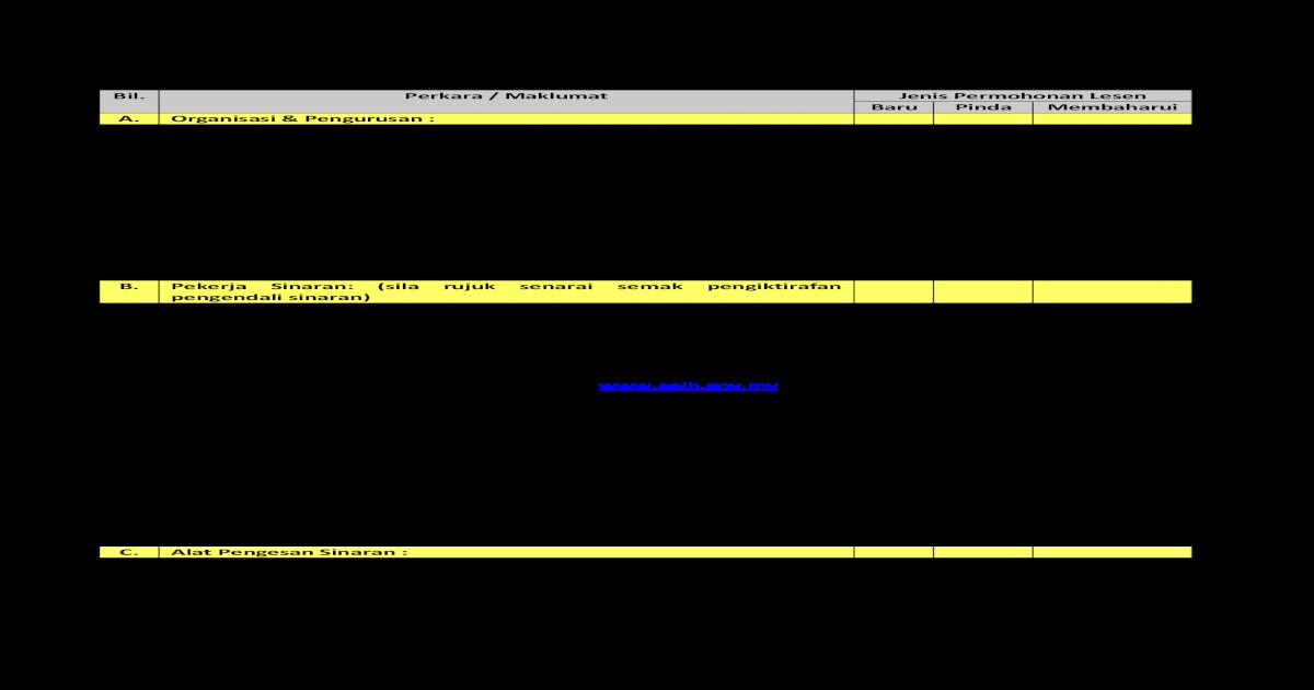 Senarai Semak Permohonan Lesen Kelas H Perkhidmatan Pdf
