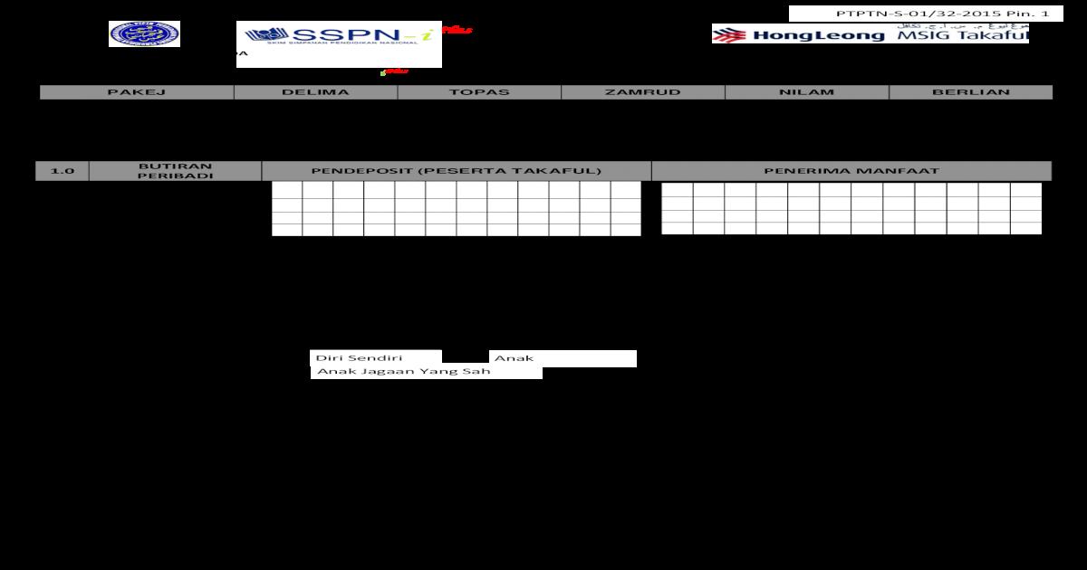 Borang Pembukaan Akaun Sspn Plus Dan Plus Borang Borang Permohonan 4 4 Saya Mengaku Bahawa Satu Salinan Helaian Pendedahan Produk Pds Untuk Pelan Takaful Telah Diberi Kepada Peserta Pemegang Pdf Document