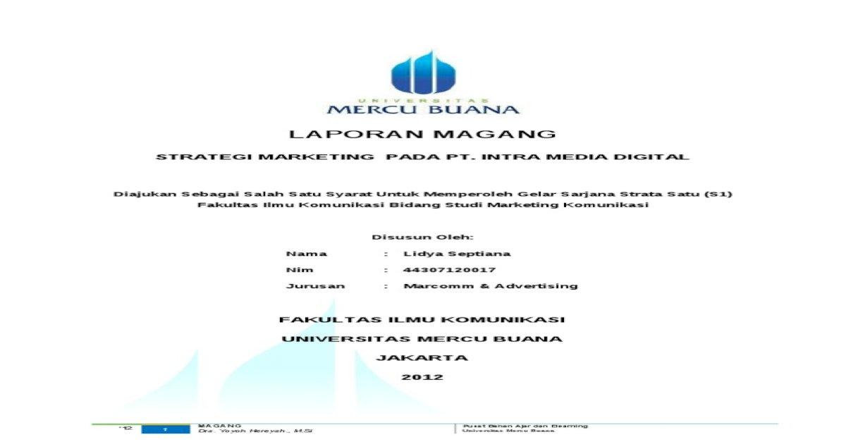 Contoh Laporan Magang Pdf Document