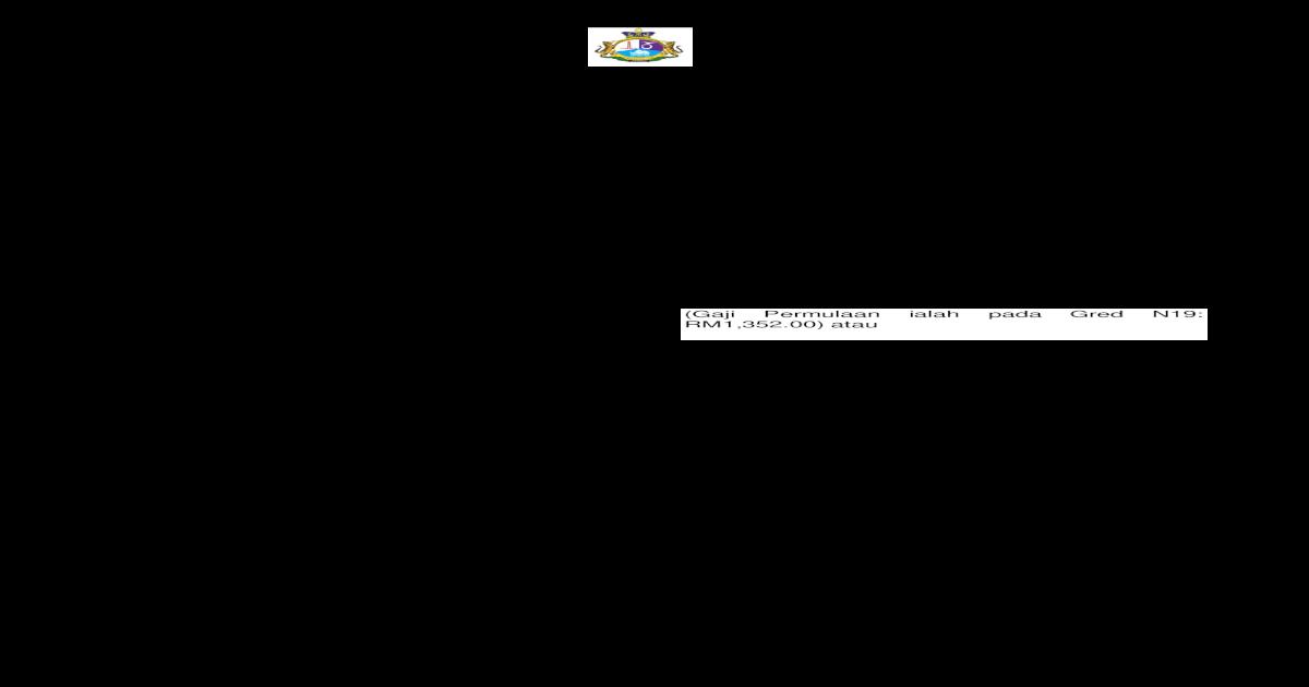 Majlis Daerah Pontian 1 A Skim Perkhidmatan Pembantu Pdf Document