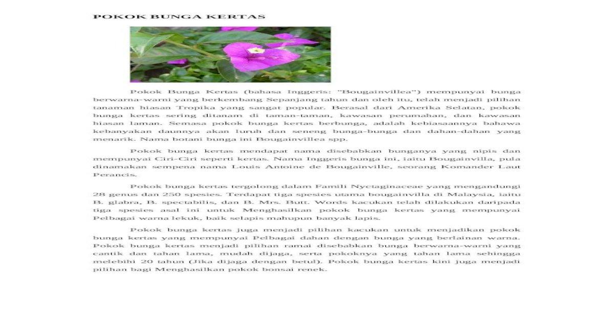 Kajian Bunga Kertas Docx Document