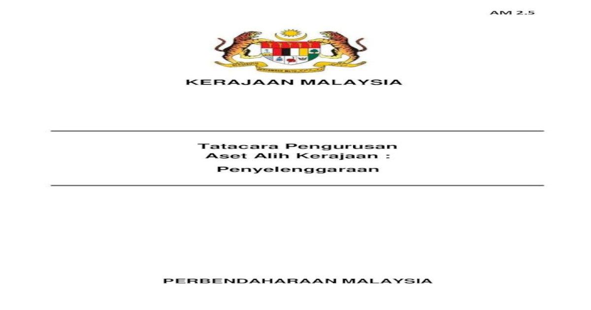 Tatacara Pengurusan Aset Alih Kerajaan Penyelenggaraan Pdf Document