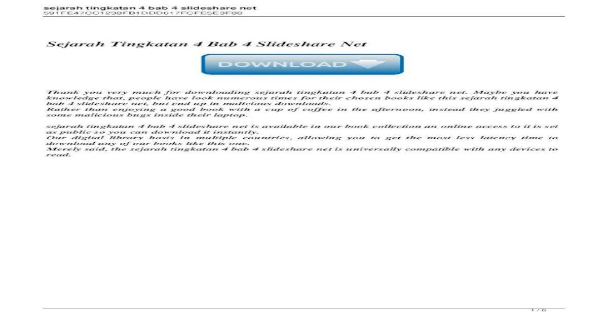 Sejarah Tingkatan 4 Bab 4 Slideshare Sejarah Tingkatan 4 Bab 1 Hingga 10 Berikut Dikongsikan Senarai Pdf Document