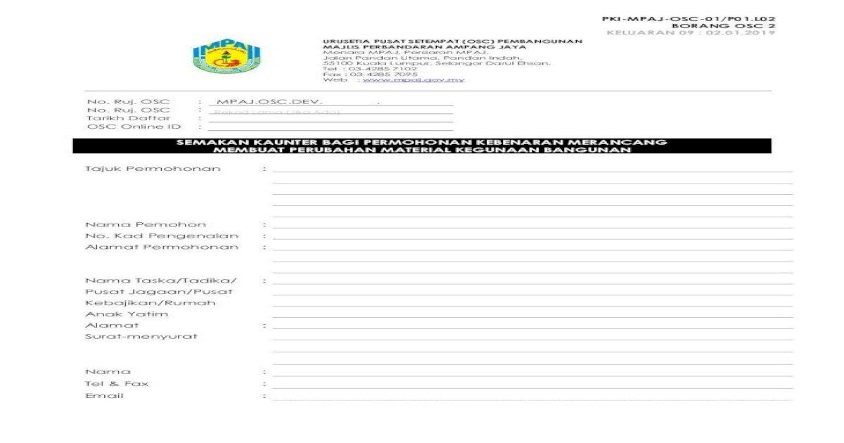 Semakan Kaunter Bagi Permohonan Kebenaran Contoh Di Lampiran 2 12 Dua 2 Salinan Pelan Menunjukkan Pdf Document