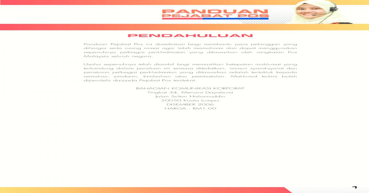 Kiriman Domestik Antarabangsa Pos Ekspres Pos Laju Flexipack Pos Malaysia