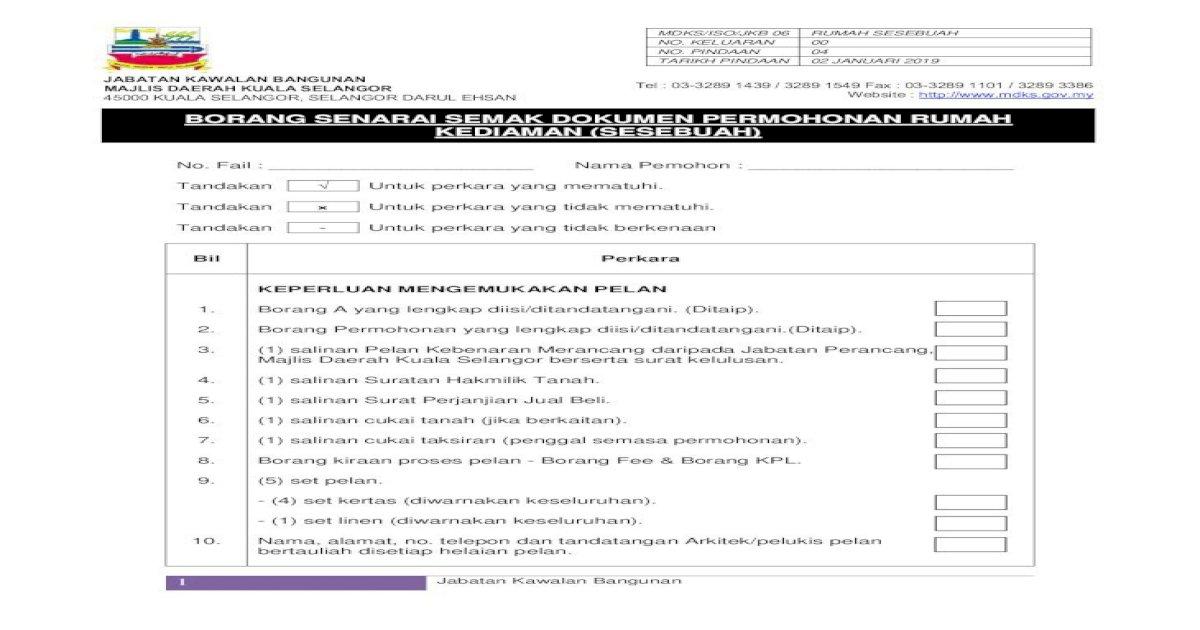 Borang Senarai Semak Dokumen Permohonan Mdks Gov My Sites Default Files Mdks Sumber Muat Majlis Pdf Document